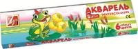 Краски акварель 6 цв Зоо с кистью 22С 1415-08